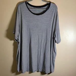 Addition Elle Black & White Striped T-Shirt